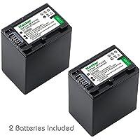 Kastar NPFH100 Battery (2-Pack) for Sony NP-FH100, FH60, FH70, NP-FH90, TRV and Sony DCR-DVD405 407E 408 410E 450 602E 610 650E DCR-HC96 DCR-SR85 HDR-HC9 HDR-UX20 HDR-SR12 DCR-SR65E XR500E Camera