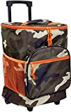 Home Essentials Camouflage With Bright Orange Insulated Rolling Cooler