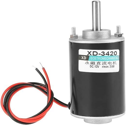 Xd 3420 12 V 24 V 30 Watt Cw Ccw Elektrische Getriebemotor Permanent Magnet Dc Motor Reversible High Speed Low Noise Für Diy Generator 12v Beleuchtung