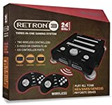 Hyperkin RetroN 3 Gaming Console 2.4 GHz Edition for SNES/Genesis/NES (Onyx Black)