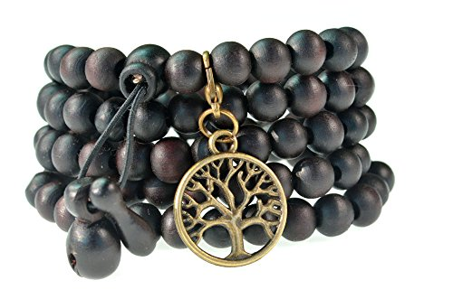 Black Beads Buddhist Prayer Necklace