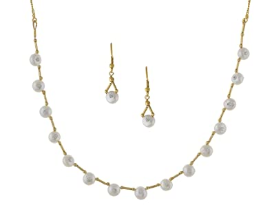 00535430bdce00 Buy Nisa Pearls Designer Pearls Necklace for Women Online at Low Prices in  India | Amazon Jewellery Store - Amazon.in