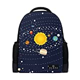 Solar System Planets Laptop Backpack High School Bookbag Casual Travel Daypack