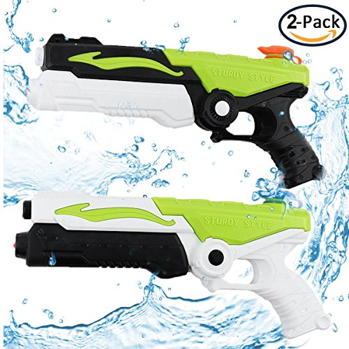Shooter Large (TacToy Water Gun Water Blaster Water Shooter 2 Pack, Large Capacity Squirt Gun, Shoots Up to 35 Ft- Game Fun Far Range Party Favor Toy water cannons for Kids and Adults)