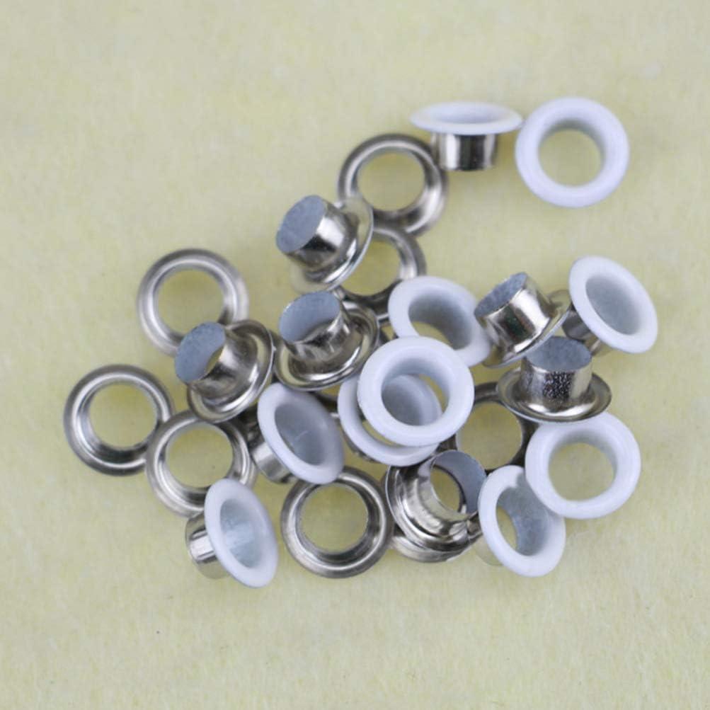SUPVOX 400pcs 5mm Multi-Color Grommets Kit Metal Eyelets Grommet Tool Kit Grommets Eyelets for Shoes Clothes Bags DIY Crafts