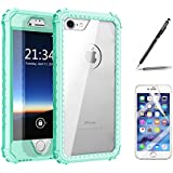 iPhone 7 Cover, Harsel Heavy Duty Slim Fit Ultra Thin [Crystal Clear] [Full Body] Armor Shockproof Soft TPU Rubber Hard Back Bumper Defender Case Cover for iPhone 7