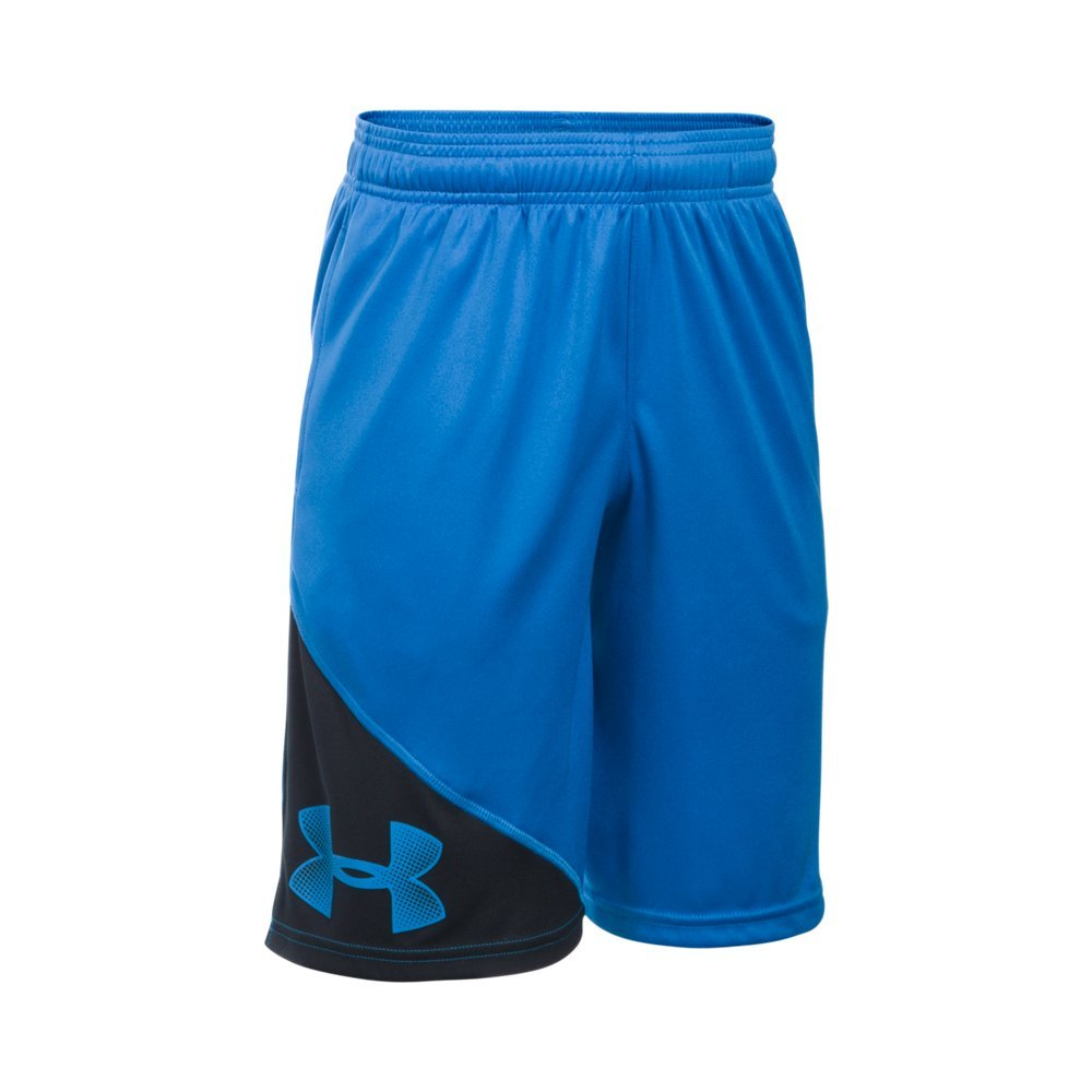 Under Armour Boys' Tech Shorts, Ultra Blue /Ultra Blue, Youth X-Small