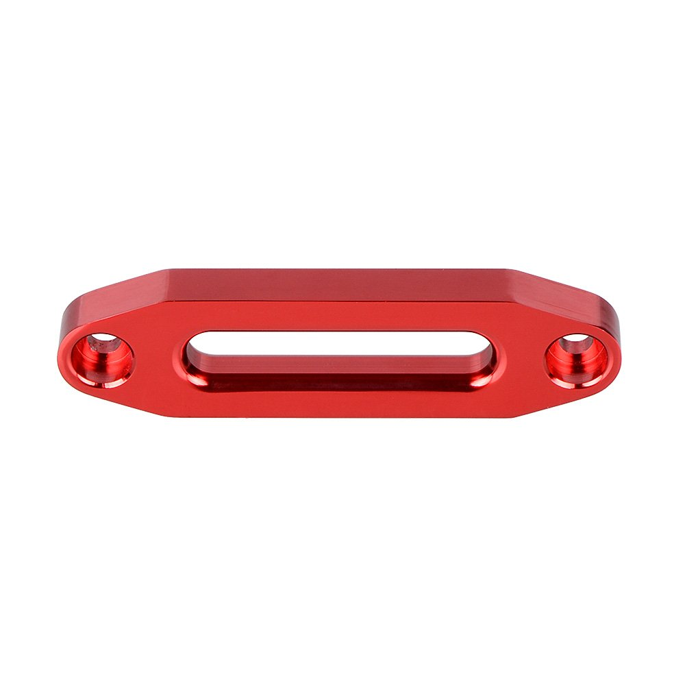"""10"""" Mount Aluminum Hawse Fairlead for 8000-15000lbs Winch Rope Steel Cable (Black)"""