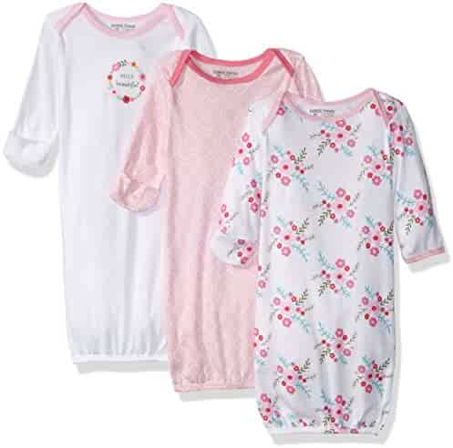 Luvable Friends Unisex 3 Pack Cotton Gown
