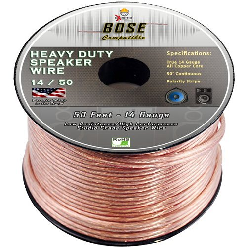 Bose Compatible Audio Speaker Wire - Home Theater - Bose Professional 14 Gauge Pure Stranded Copper Audio Cable - 50ft