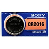 Sony CR2016 3 Volt Lithium Manganese Dioxide Batteries, Genuine Sony Blister Packaging (50 Pieces)