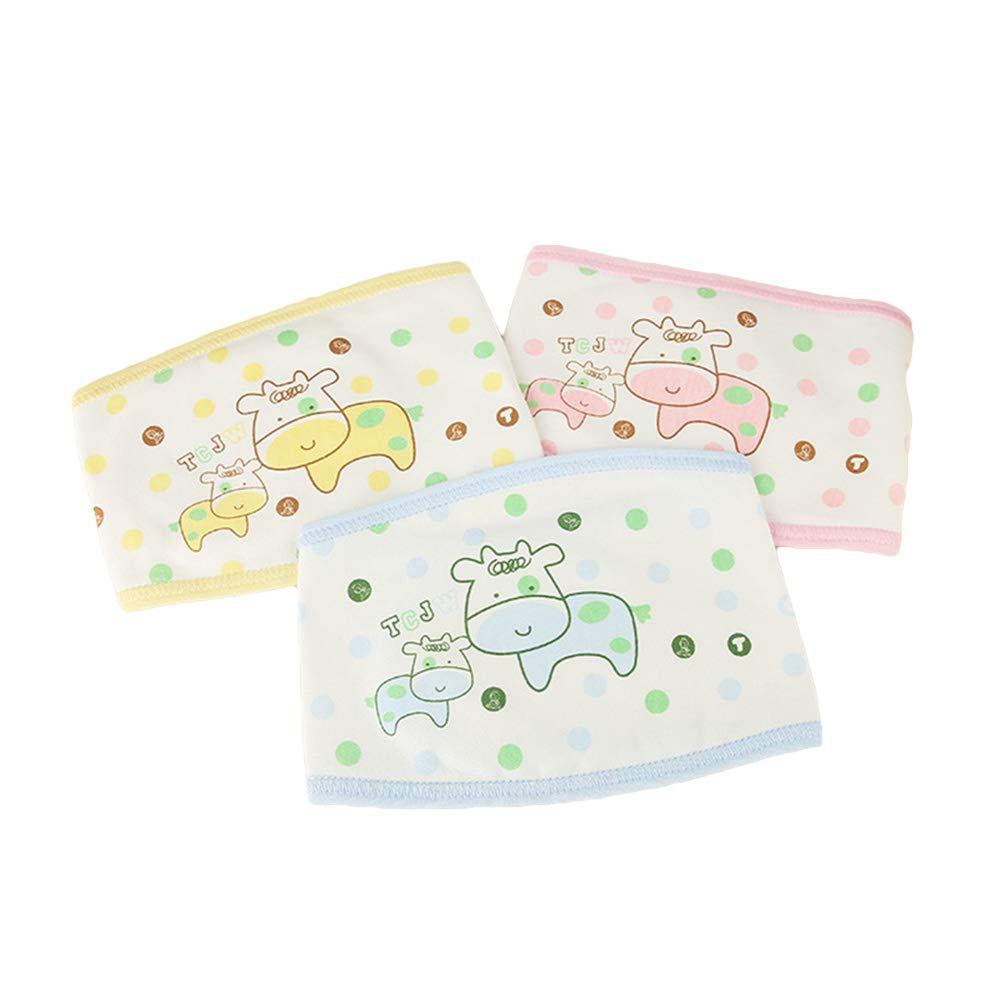 Healifty 3PCS newborn belly baby infant umbilical belt navel protection belt (random color) by Healifty