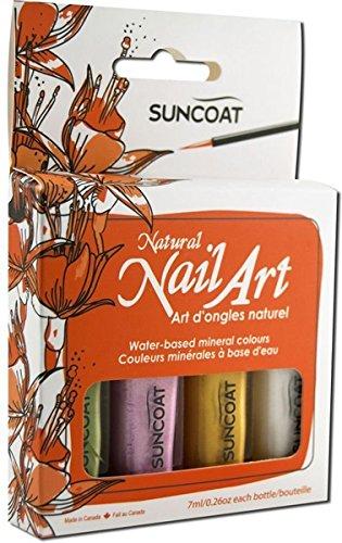SUNCOAT PRODUCTS INC. Water-Based Natural Nailart Kit Earth