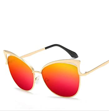 Wmshpeds Europa y los Estados Unidos gafas de moda, gafas de sol personalizadas las mujeres, la tendencia de gafas de ojo de gato.: Amazon.es: Deportes y ...