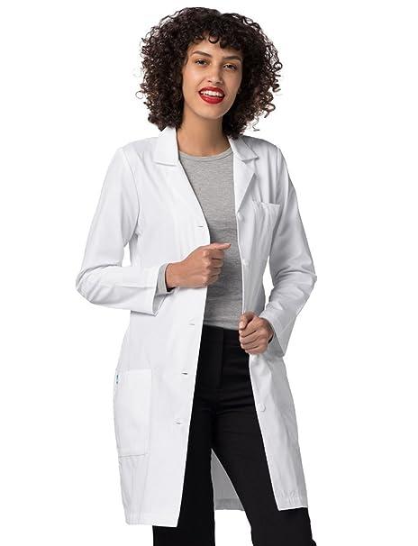 Adar Uniforms Bata Médica de Laboratorio Para Mujeres, Doctoras y Científicos - 804 Color WHT | Talla: US 8: Amazon.es: Ropa y accesorios