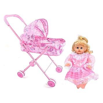 per Carro de Muñecas de Juguetes Infantiles Carro para Muñecas Bebés con Músicas Juguetes Educativos