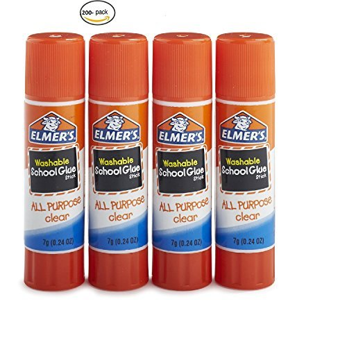 Elmer's Washable All-Purpose School Glue Stick, 0.24 oz, Pack of 200 by Elmer's