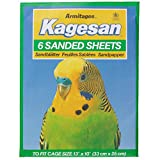 Kagesan Sanded Sheets Bird Cage 6 Pack (13 inch x 14 inch) (May vary)
