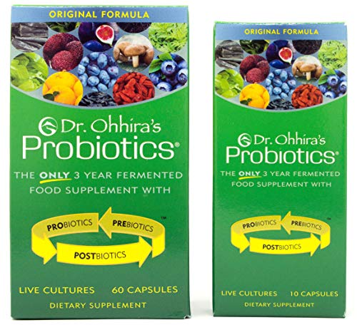 Dr. Ohhira's Probiotics, Original Formula, 60 Caps with Bonus 10 Capsule Travel Pack