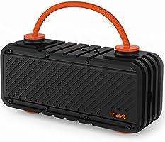 HAVIT M22 Bluetooth Lautsprecher mit 20W Dual-Treiber Reinem Bass, 16 St Spielzeit, 20M Reichweite, IPX5 Wasserdicht Outdoor Lautsprecher mit DIY-Griff, Kabellose Box für iPhone, Huawei, Samsung
