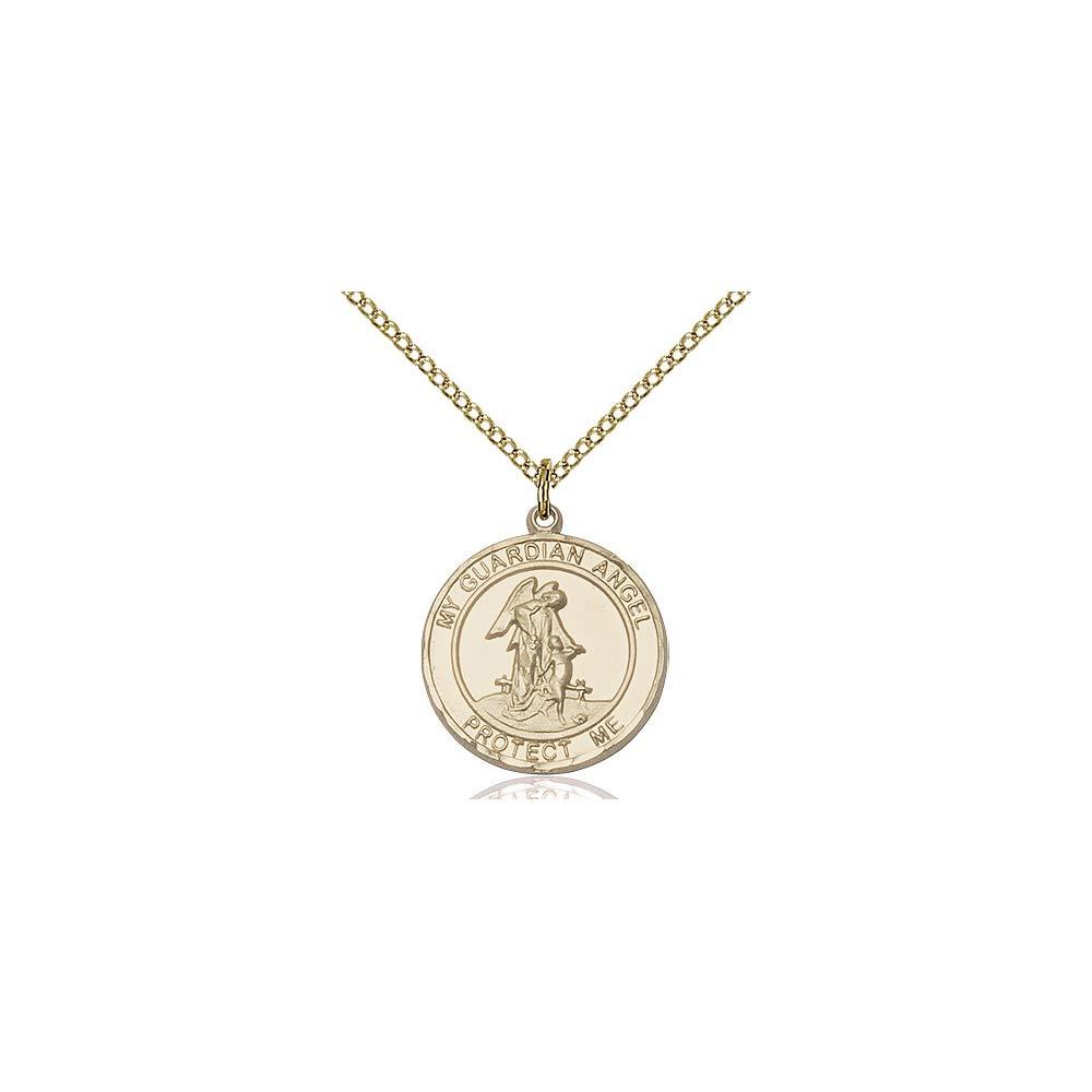 DiamondJewelryNY 14kt Gold Filled Guardian Angel Pendant