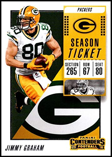329f1c79e Amazon.com  2018 Panini Contenders Season Tickets  65 Jimmy Graham NM-MT Green  Bay Packers Official NFL Football Card  Collectibles   Fine Art