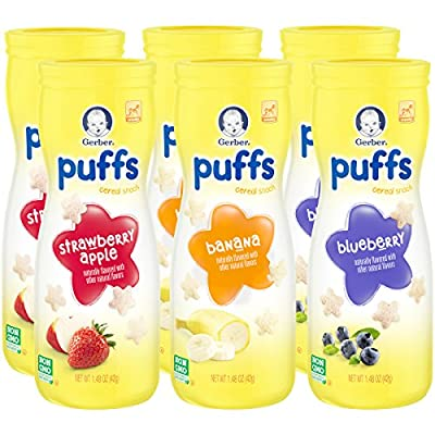 Gerber Graduates Puffs Cereal Snack, Assorted Flavors, 1.48 Ounce, 6 Count by Nestle that we recomend personally.