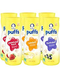Gerber Graduates Puffs Cereal Snack, Assorted Flavors, 1.48 Ounce, 6 Count BOBEBE Online Baby Store From New York to Miami and Los Angeles