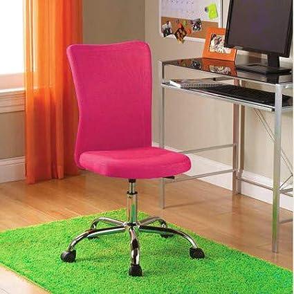 Terrific Amazon Com Armless Desk Chair Ergonomic Cute Fuschia Height Cjindustries Chair Design For Home Cjindustriesco