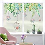 HAOLY Household Window Stickers,Glass Stickers,Bathroom Living Room Bathroom Kitchen Sand Stickers,Light Opaque-A 140x70cm(55x28inch)