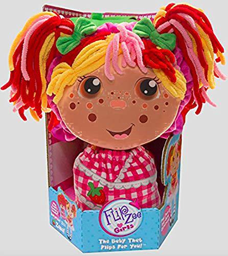 Flip Zee Girls ( African American Zana ) Very Berry Strawberry Plush Doll Soft Toy ()