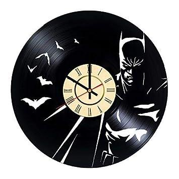 Porte Fun Batman Faite A La Main Disque Vinyle Horloge