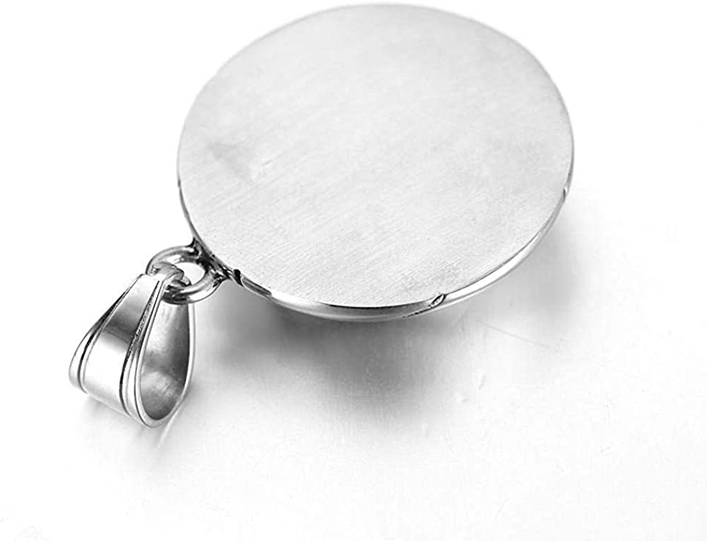 HAMANY Stainless Steel Jewelry Mens Necklace Sports Basketball Titanium Steel Necklace Pendant Mens Gift