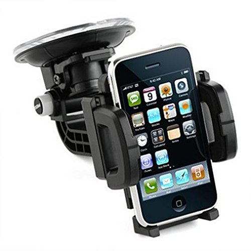 Multi-Angle Rotating Car Mount Windshield Holder Cradle Stand Window Glass  Dock Suction Black for Straight Talk iPhone 6S Plus - Straight Talk iPhone