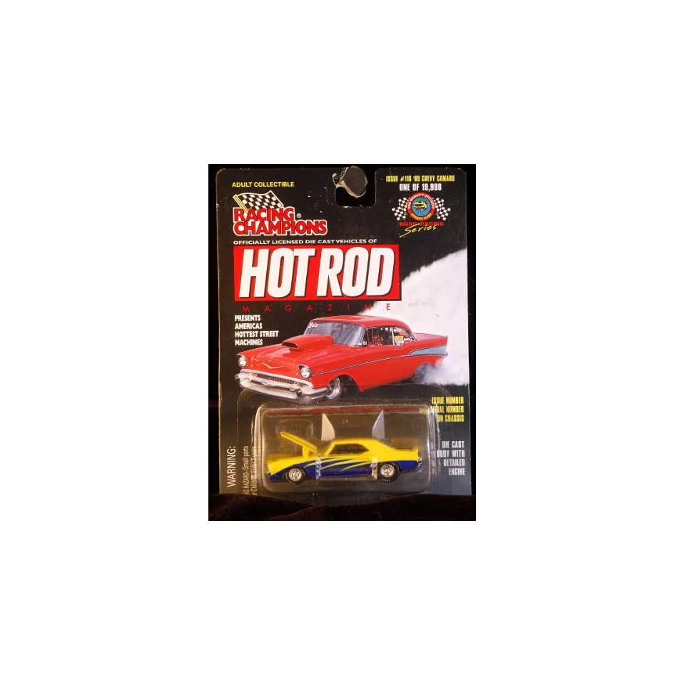 Racing Champions   Hot Rod Magazine   1969 Chevy Camaro   157 Scale   Limited Edition 1/19,998   Issue #116