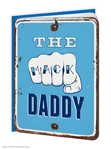 Brainbox Candy Funny Humorous 'The Mack Daddy' Embossed Father's Day Greetings Card -