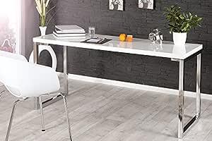 DuNord Design Laptop Mesa Escritorio Oficina Mesa Blanco Brillante ...