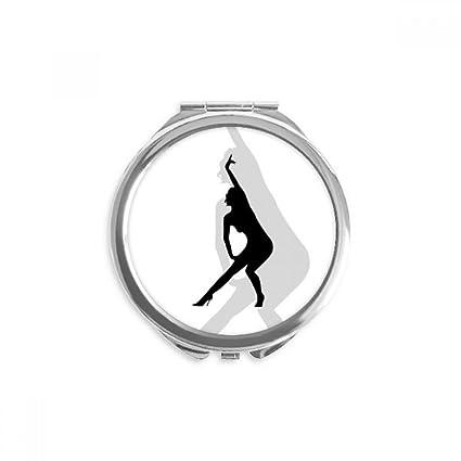 DIYthinker Hot Yoga Hermosa mujer espejo redondo portable de ...