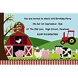 unique party 41944 farm party invitations pack of 8 amazon co uk