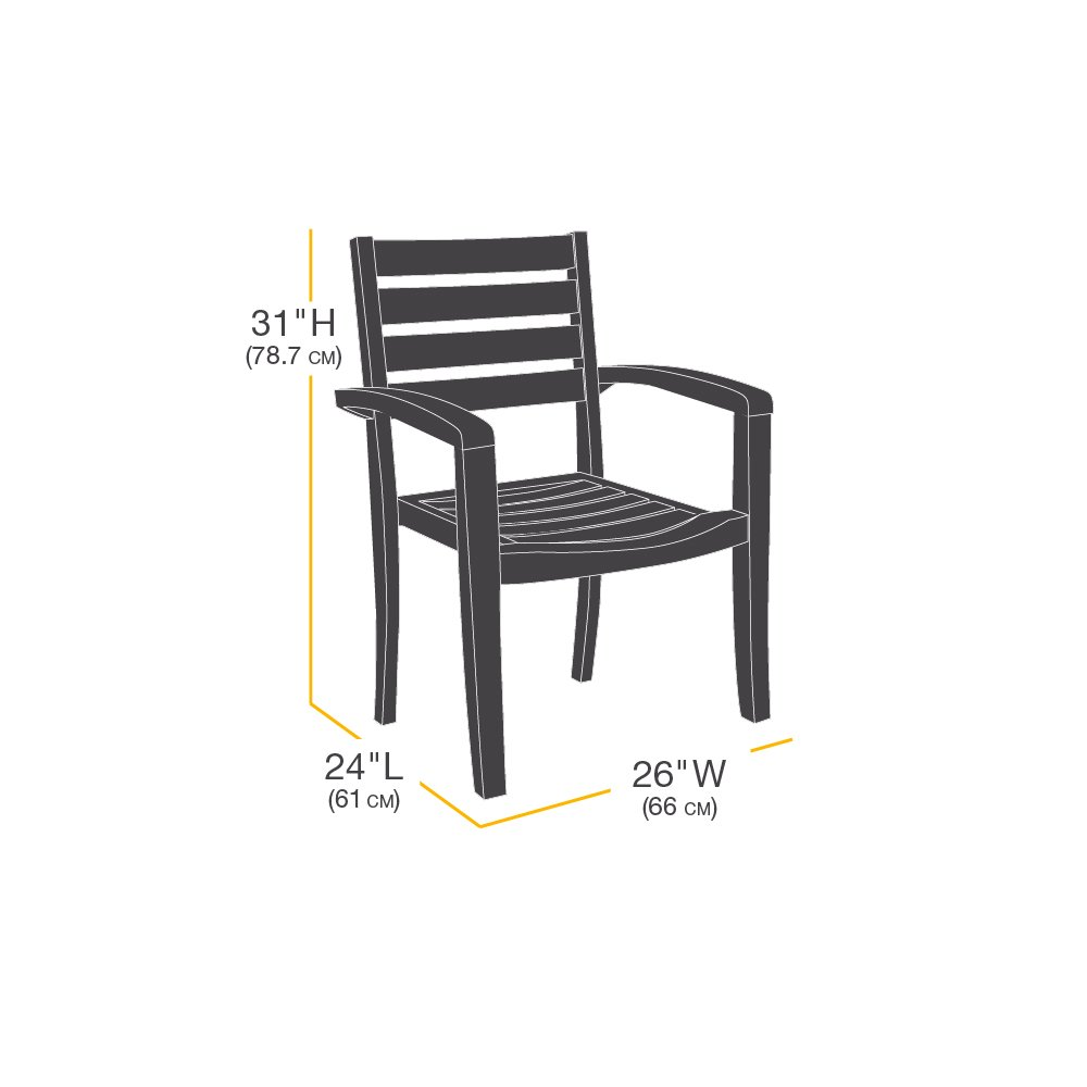 Basics Dining Arm Chair Patio Cover Set of 2