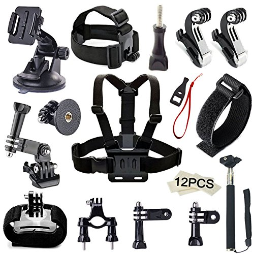 Accessory Kit(65 in 1) for Gopro Hero 7 6 5 4 3+ 3 2 1 Hero Session 5 Black Akaso Ek7000 Apeman Sj4000 5000...
