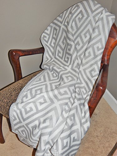 Pattern Knitted Throw Blanket Greek