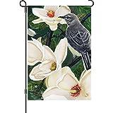 Premier 51349 Garden Illuminated Flag, Mockbird and Magnolias, 12 by 18-Inch