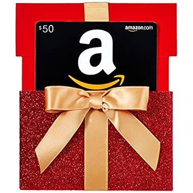 Amazon.com $50 Gift Card in a Gift Box Reveal (Classic Black Card Design)