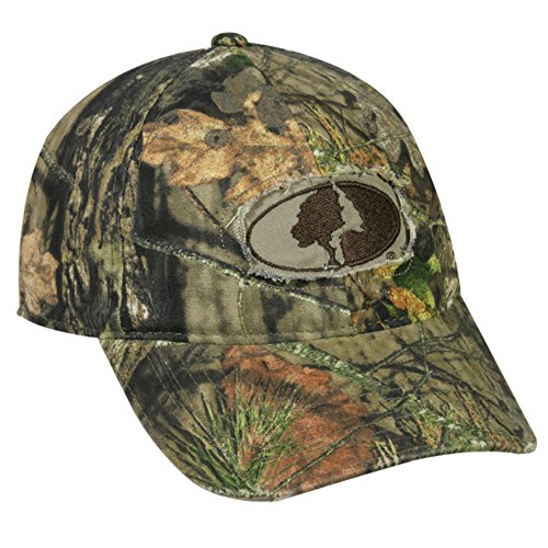 (Mossy Oak Country Camo Frayed Patch Logo Hunting Hat)