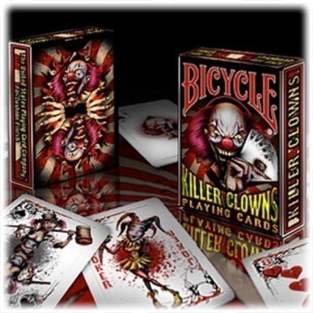 KILLER CLOWNS BICYCLE DECK PLAYING CARDS USPCC AIR CUSHION MAGIC TRICKS COLLECT