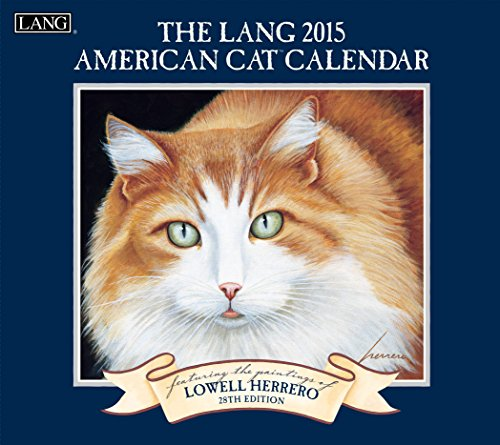 Lang January to December, 13.375 x 24 Inches, Perfect Timing American Cat 2015 Wall Calendar by Lowell Herrero (1001775)
