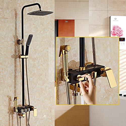 JIANGU Bathroom Shower Column top Spray Lift Set Bidet 4 Faucet Supercharged Shower
