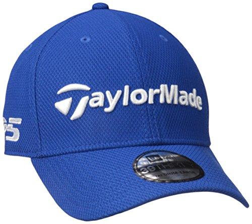 Adidas Tour Hat (TaylorMade Golf 2017 tour new era 39thirty white hat blue azure m/l)