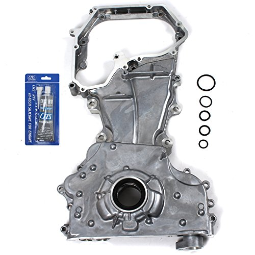 NEW OP90171SI Engine Front Timing Cover, Oil Pump, & RTV Gasket Silicone for 02-06 Nissan Altima Sentra SE-R 2.5L 2500cc DOHC ()